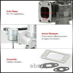 T04E T3/T4.63 AR Turbo Compressor 400+HP + Internal Wastegate V-Band For Toyota