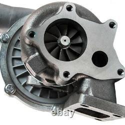 T04E T3/T4 TURBOCHARGER. 63 A/R 57 WithOil Line+Intercooler +Piping Pipe Kits