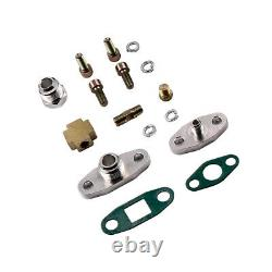 T04e T3/t4 A/r. 57 73 Trim 400+hp Stage III Turbo Charger+oil Feed+drain Line Kit