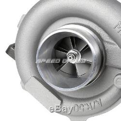 T04e T3/t4 A/r. 63 57 Trim 5-bolt 400+hp Stage III Turbo Charger+oil Feed Line