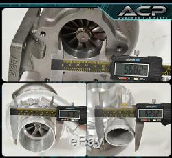 T3/T4 Turbo Charger. 57 A/R Compressor Turbine 400 Hp 5 Bolt Flange Celica Mr2