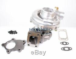 T3/t4 T04e. 63a/r Journal Turbo Charger Universal Upgrade 4 Bolt Inlet 5 Bolt Dp