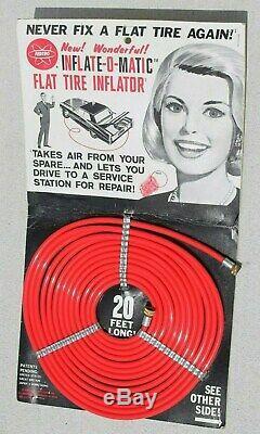 Tire Inflator Rare Original 60s accessory auto vintage display