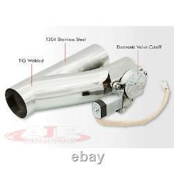 Universal 2.5 63.5mm Electric Exhaust Header Catback Downpipe Cutout Value Kit