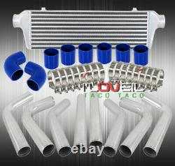 Universal 2.5 Aluminum Piping Pipe Kit + Fmic Turbo Intercooler + Silicone Hose