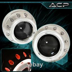 Universal 2.5 Bi Xenon Headlight Retrofit Projector Round Ccfl Halo Ring Hid