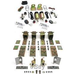 Universal 2 Door Suicide Hidden Hinges Kit with 80 lbs Shaved Door Remote Kit