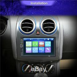 Universal 7 2DIN Single-Touch Car Dash Stereo Radio Player Kit with Rear Camera