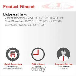 Universal Aluminum FMIC Front Mount Turbo Intercooler 28X7X2.5 Bar & Plate