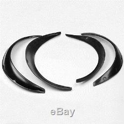 Universal Fender Flares Wheel Arches Extension Flares 4Pcs Black Wide Body Set