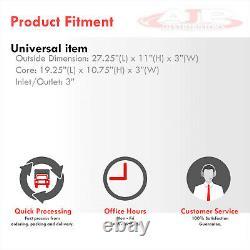 Universal Full Aluminum FMIC Turbo Front Mount Intercooler 28x11x3 Bar Plate