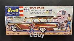 V. Rare Revell S Cement Ford Country Squire Original Issue Complete H-1220-149