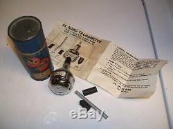 Vintage 1960's AC hand Tachometer tool auto service gm street rat rod scta rpm