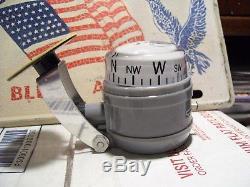 Vintage 1960' s nos AIRWAY auto compass gauge dash kit gm chevy car rat rod nash
