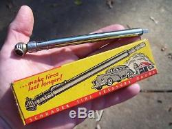 Vintage 40s nos Auto Tire accessory chrome tester gm ford chevy rat rod pontiac