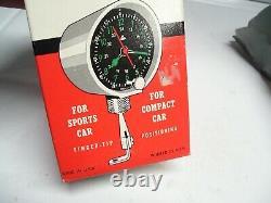 Vintage 70s nos auto Clock Aircraft type service part gm Hot rat rod accessory