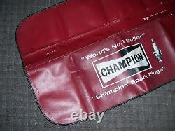 Vintage 70s old Champion Sparkplugs auto fender part service Ford gm accessory
