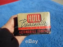 Vintage Original Hull Beaconlite Dash Compass NOS in Original Box Illuminated