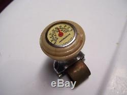 Vintage Steering wheel knob thermometer gauge gm ford chevy rat rod mopar bomba