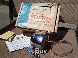 Vintage nos 60s chrome Auto dash Altimeter gauge gm ford chevy rat rod pontiac