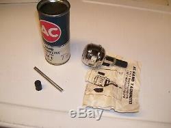Vintage nos Chrome tool Tachometer delco auto accessory gm street hot rod parts