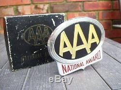 Vintage nos in box AAA automobile emblem badge award chrome gm street rat rod