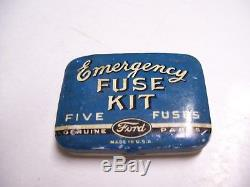 Vintage original rare Ford Fuse emergency tool kit box tin automobile part 50s