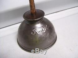 Vintage original rare Ford antique Oil can oiler tool kit automobile part 30s