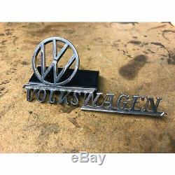 Volkswagen VW Dealer Emblem oval split heb zwitter okrasa kdf kubel kafer petri