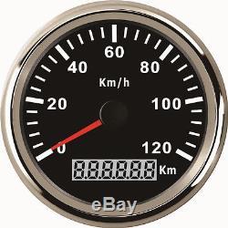 Waterproof Durable 12/24V 85mm 120KM/H Car Vehicle GPS Digital Speedometer Gauge